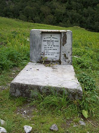 Psalm 121 - The headstone of the English botanist, Joan Margaret Legge in the Valley of Flowers in the Himalaya, quoting the first verse of Psalm 121