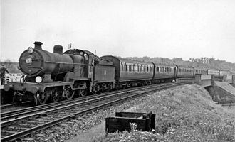 Ashford railway works - Up Holiday express from Ramsgate entering Margate station