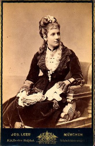 Maria Theresa of Austria-Este (1849–1919) - Princess Maria Theresa of Bavaria, future Queen of Bavaria, 1870s.