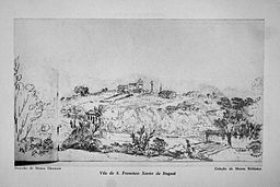 Vila de São Francisco Xavier de Itaguaí - Desenho de Maria Graham