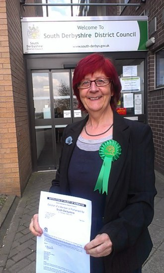South Derbyshire (UK Parliament constituency) - Image: Marianne R Bamkin and papers