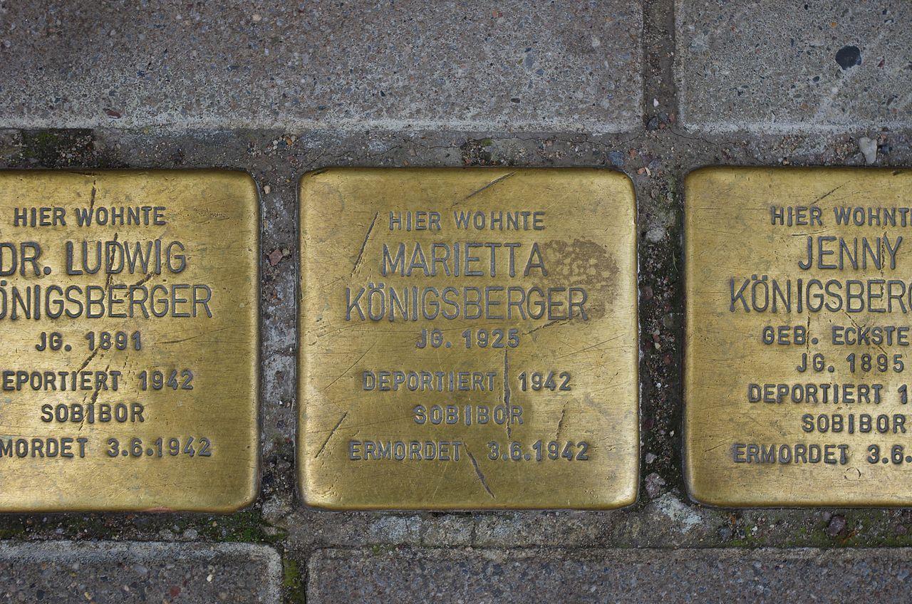 Marietta Königsberger Stolperstein Lutherstadt Eisleben.jpg