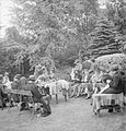 Marketing Without Money- Children's Clothing Exchange, Norwood, England, UK, 1943 D15092.jpg