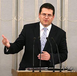 Maroš Šefčovič - Image: Maroš Šefčovič Senate of Poland 01