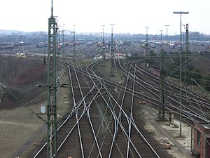 Maschen Marshalling Yard - The south-north set of 64 departure sidings