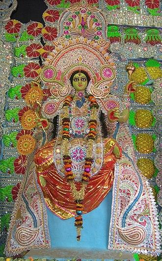 Matangi - Matangi worshipped with other Mahavidyas at a Kali Puja pandal in Kolkata.