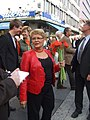 Maud Olofsson campaigning in 2006.jpg