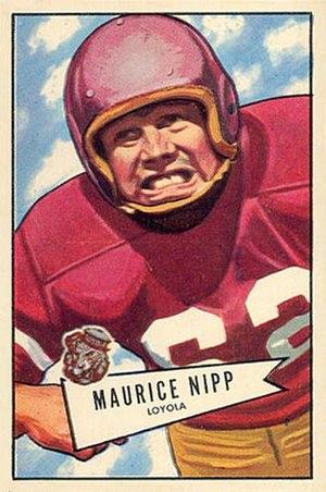 Maury Nipp - Nipp on a 1952 Bowman football card
