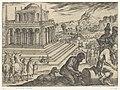 Mausoleum van Halicarnassus Septem orbis admiranda (serietitel) De zeven wereldwonderen (serietitel), RP-P-H-OB-44.045.jpg