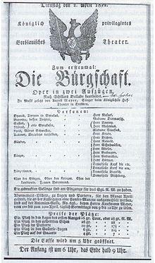 A. Mayer: Die Bürgschaft – Breslau 1822 (Quelle: Wikimedia)