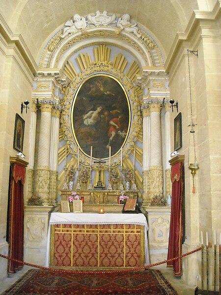 File:Mdina St Agatha chapel inside.JPG