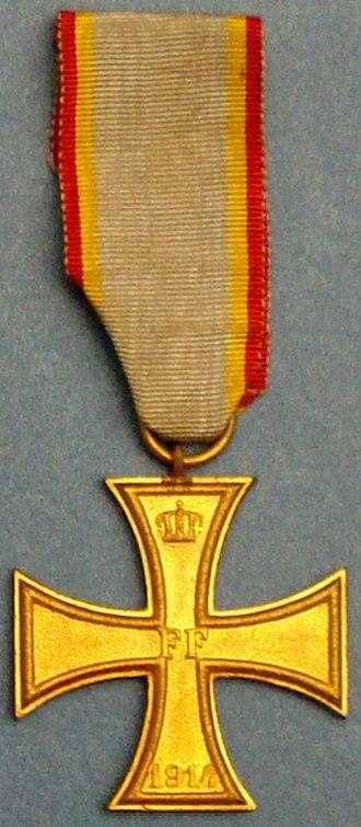 Military Merit Cross (Mecklenburg-Schwerin) - 1914 Military Merit Cross 2nd Class