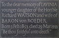 Memorial to Lavinia Watson.JPG