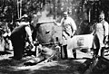 Men making large vat of Maxwell House coffee over fire, Bloedel-Donovan Lumber Mills employees picnic, ca 1922-1923 (INDOCC 1112).jpg