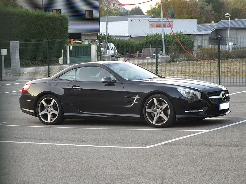 A car Mercedes-Benz SL 500 R231 in Challes-les-Eaux on October 29, 2016.