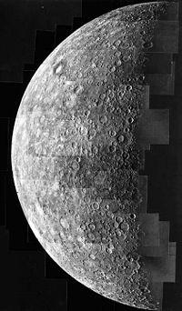 Image de Mercure prise par Mariner 10
