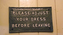 Message in toilet of the station of Horsted Keynes.jpg