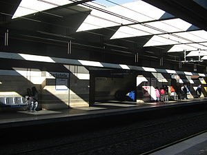Garbatella (Rome Metro) - Image: Metro Garbatella 3315