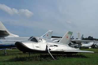 Mikoyan-Gurevich MiG-105 - MiG 105-11 test vehicle at the Central Air Force Museum.