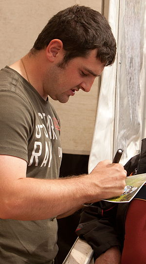 Michael Dunlop - Dunlop signing autographs at the 2012 TT