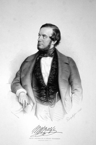 Opera in English - Balfe in a lithography by August Prinzhofer, 1846
