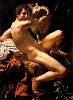 Michelangelo Merisi da Caravaggio, Saint John the Baptist (Youth with a Ram) (c. 1602).jpg