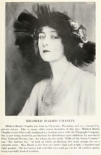 Mildred Harris - Mildred Harris c. 1920.