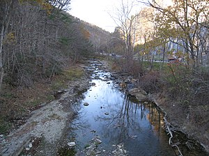 Mechanicsburg Gap - Mill Creek at the eastern entrance of Mechanicsburg Gap.