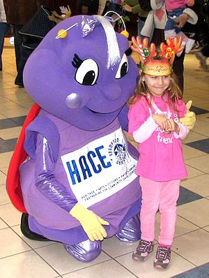 "Mascot - ""Millie,"" costumed character mascot of the Brampton Arts Council"