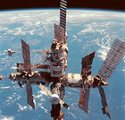 The Soviet/Russian space station Mir