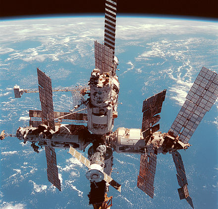 Soviet and Russian space station Mir Mir on 12 June 1998edit1.jpg