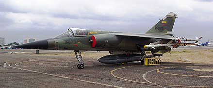 The Mirage F.1JA (FAE-806) was one aircraft involved in the claimed shooting down of two Peruvian Sukhoi Su-22 on February 10, 1995. Mirage F.1JA.JPG