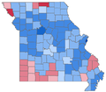 Missouri Auditor election results, 2002.png