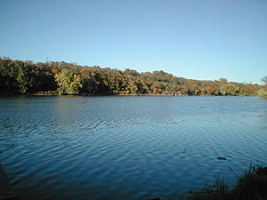 Minnesota River - View of the Minnesota River from Memorial Park; southeast of Granite Falls, MN.