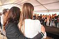 Moeder troost haar dochter omdat zie niet door is elite model wedstrijd Spijkenisse.jpg