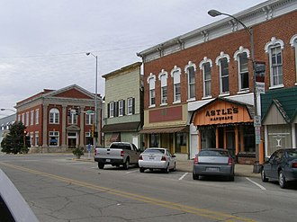 National Register of Historic Places listings in Kankakee County, Illinois - Image: Momence Illinois downtown