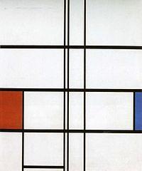 Mondrian, Compositie met rood en blauw.jpg
