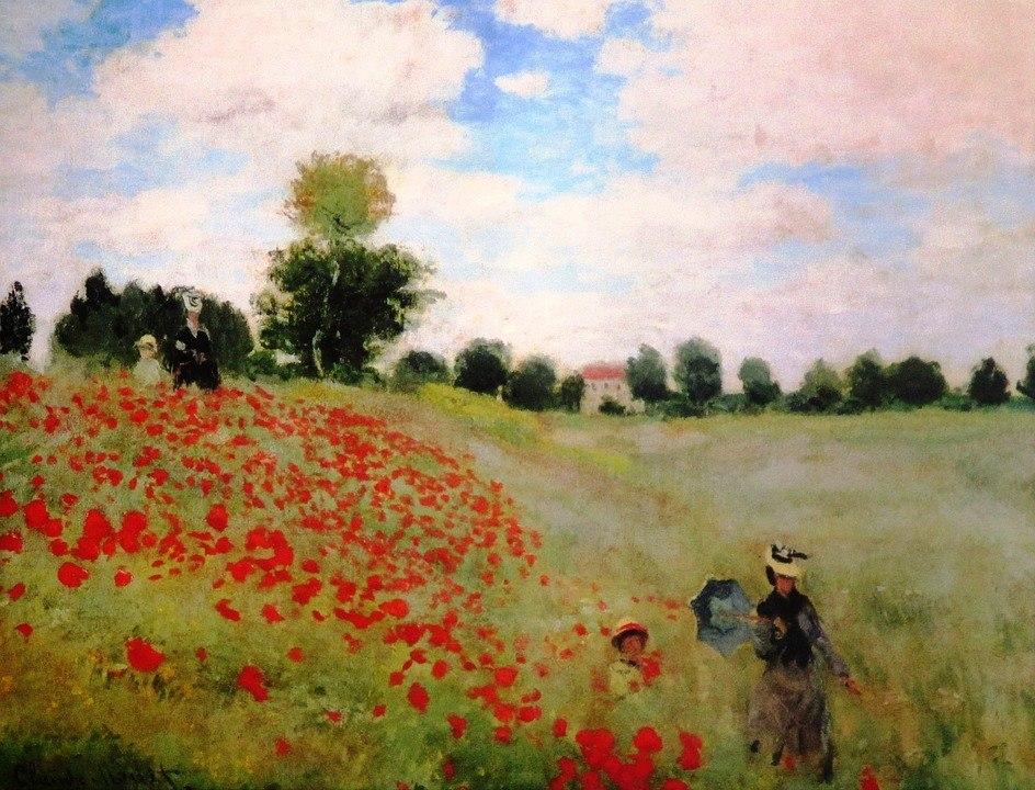 Monet Poppies