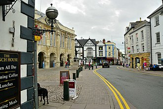Agincourt Square, Monmouth - General view of the square, looking towards the southwest