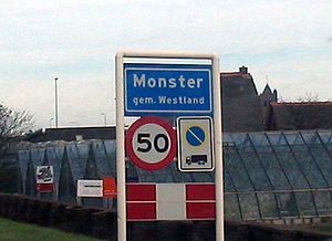 Monster, South Holland - Image: Monster bord