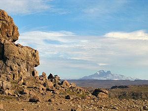 Gallieni Massif - The Gallieni Massif seen from afar.