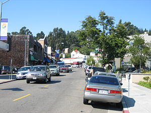 Montclair, Oakland, California - A street view of Montclair Village