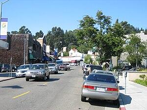 Montclair, Oakland, California - A street view of Montclair Village