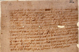 Francis Tresham - Image: Monteagle letter