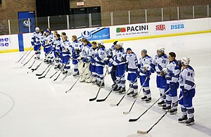 Montreal Carabins women's ice hockey - Image: Montreal Carabins January 29 2012 012