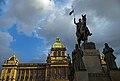 Monument to St. Wenceslas, the National Museum. Prague, Czech Republic.jpg
