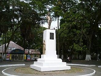 Jorge Robledo (conquistador) - Image: Monumento al Mariscal Robledo, Parque La Isleta. Cartago, Valle, Colombia