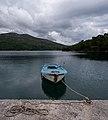 Moored fishing boat, Kobaš, Croatia (PPL3-Altered) julesvernex2.jpg