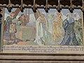 Mosaic - reina Maria de Lluna posa una de les primeres pedres.JPG