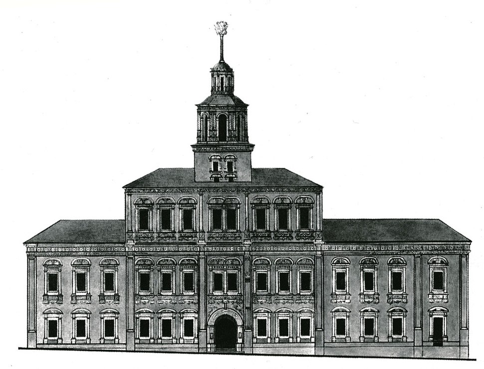 Moscow Red Square rathaus, survey by Bove, 1816